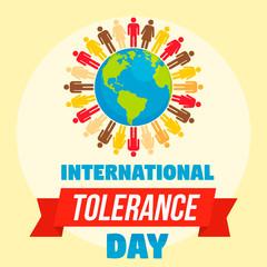 International tolerance day concept background. Flat illustration of international tolerance day vector concept background for web design