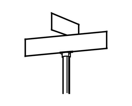 Line Art Vector Road Sign Board Symbol Logo Template Design Inspiration