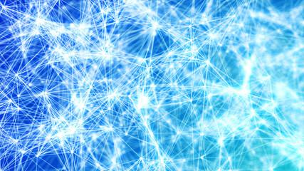 Abstract Blue Plexus Background Frozen, Winter Node Structures Illustration