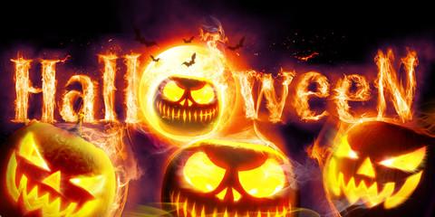 Halloween in Flammen