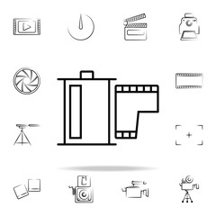 photo tape outine icon. Photo and camera icons universal set for web and mobile