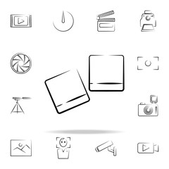 photo pictures outine icon. Photo and camera icons universal set for web and mobile