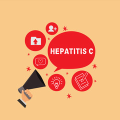 Handwriting text writing Hepatitis C. Concept meaning Inflammation of the liver due to a viral infection Liver disease.