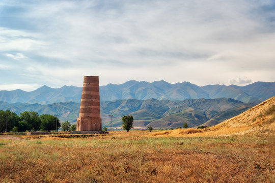 Burana Tower close to Bishkek, Kyrgyzstan, taken in August 2018