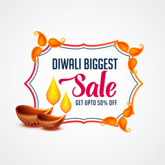 modern happy diwali sale banner template design