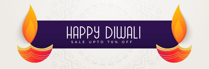 happy diwali banner design for festival season