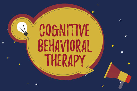 Word writing text Cognitive Behavioral Therapy. Business concept for Psychological treatment for mental disorders.