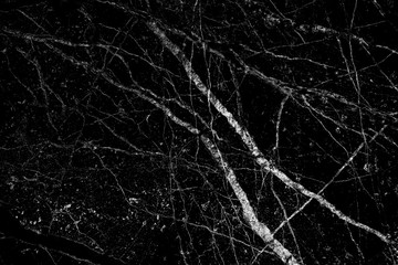 Black marble texture in veins patterns abstract background
