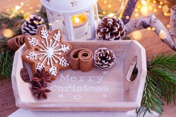 Duftende Weihnachtsplätzchen Stern Glasur