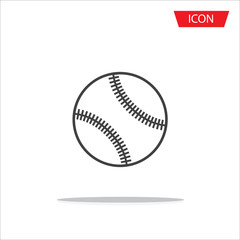 Baseballs icon vector , outline baseballs icon vector on white background.