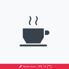 Coffee Cup Icon / Vector
