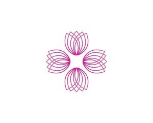 Flower beauty logo vector