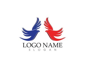 Falcon eagle wings logo vector