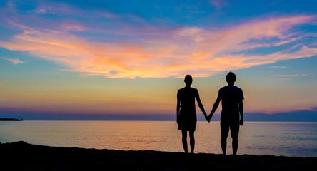 coucher de soleil de corse en amoureux