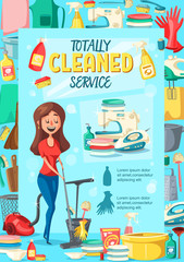 Home cleaning service, vector poster