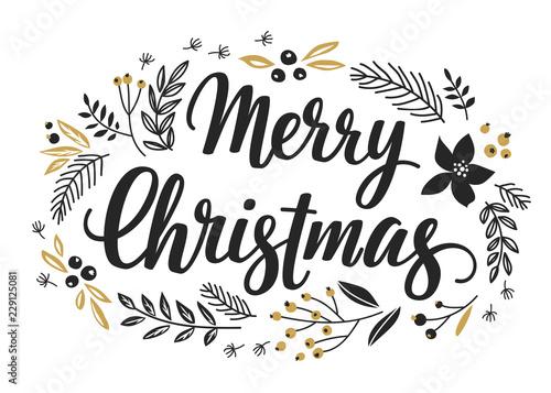 Wall mural Christmas Callygraphic Wreath