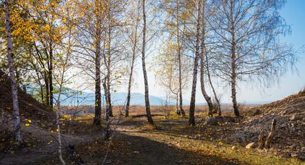 Tsarev kurgan. Attraction of the Samara region. On a Sunny autumn day
