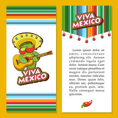 A set of popular Mexican fast food dishes. Vector illustration in cartoon style.