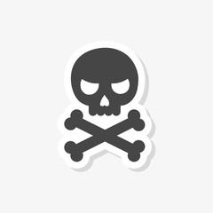 Skull and bones sticker or logo