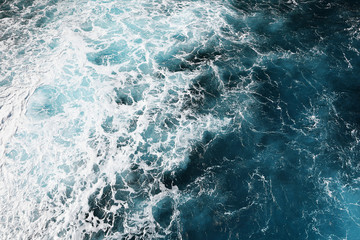 Wall Mural - blue deep sea texture of the surface level