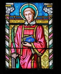 Stained Glass - Saint Lawrence of Rome