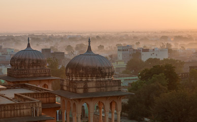 View of Mandawa town in Rajasthan, India