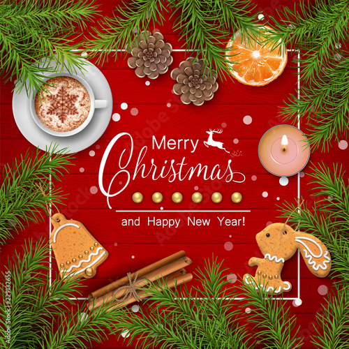 Christmas Vector Background Stock Image And Royalty Free