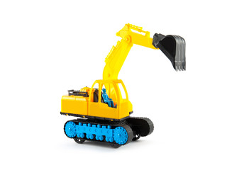 Construction machinery on a white background.
