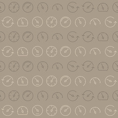 Seamless pattern with speedometers for your design