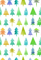 Christmas background. Forest . Pattern