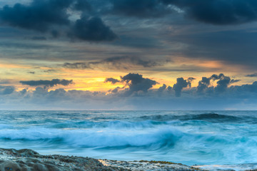An Atmospheric Sunrise Seascape