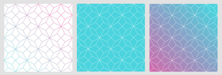Motif raccord étoiles géométriques avec couleurs et dégradés
