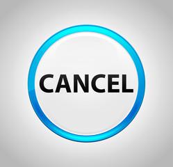 Cancel Round Blue Push Button