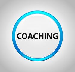 Coaching Round Blue Push Button