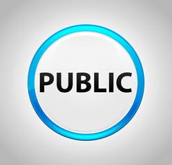 Public Round Blue Push Button