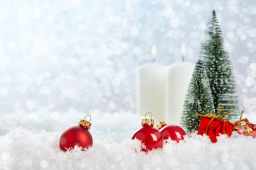 Christmas decoration on abstract background.