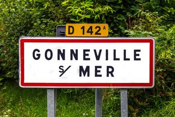 Panneau indicateur entrée de ville