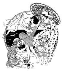 Vintage Illustration Engraving