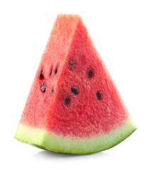 One slice of fresh ripe watermelon