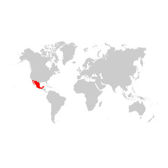 Mexico on world map