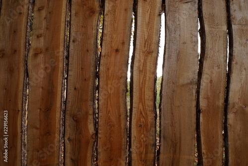 Struktur Von Unbearbeiteten Holzbrettern Als Zaun Stock Photo And