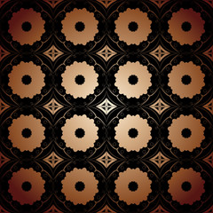 background arabesque pattern multicolored circles
