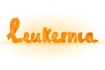 Leukemia lettering image