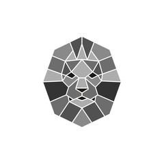 Lion logo. Lion head with crown - vector illustration, emblem design. Universal company symbol.