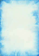 Blurred watercolor background of delicate blue color.