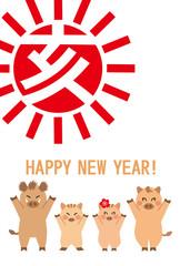 亥 猪家族 happy new year!