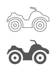 atv quad bike icon