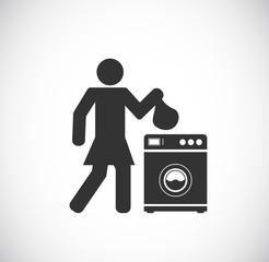 laundry - washing machine icon
