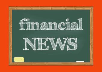 Financial news chalkboard notice Vector illustration for design