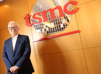 Taiwan Semiconductor Manufacturing Co (TSMC) chairman Morris Chang poses during an interview with Reuters in Hsinchu